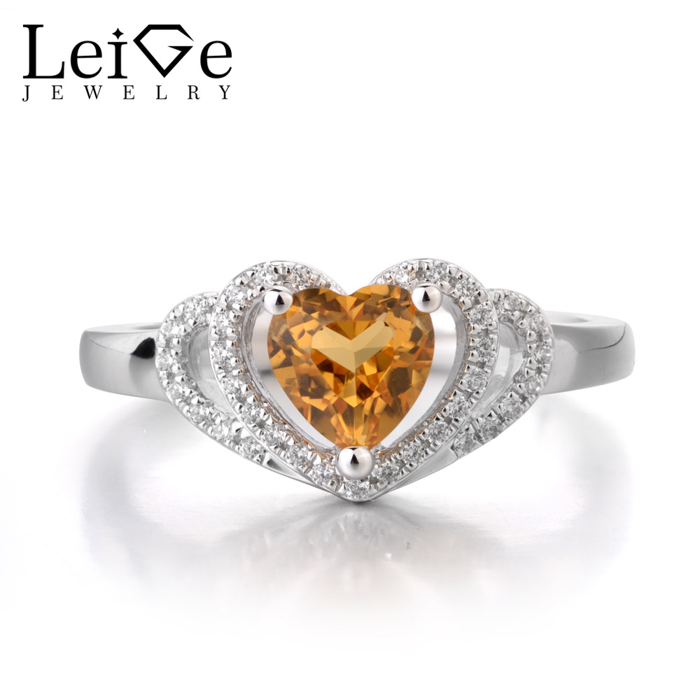 Leige Jewelry Natural Citrine Ring Yellow Color Cocktail Party Gifts For Woman Popular Rings Fine Jewelry 925 Sterling Silver Leige Jewelry Natural Citrine Ring Yellow Color Cocktail Party Gifts For Woman Popular Rings Fine Jewelry 925 Sterling Silver