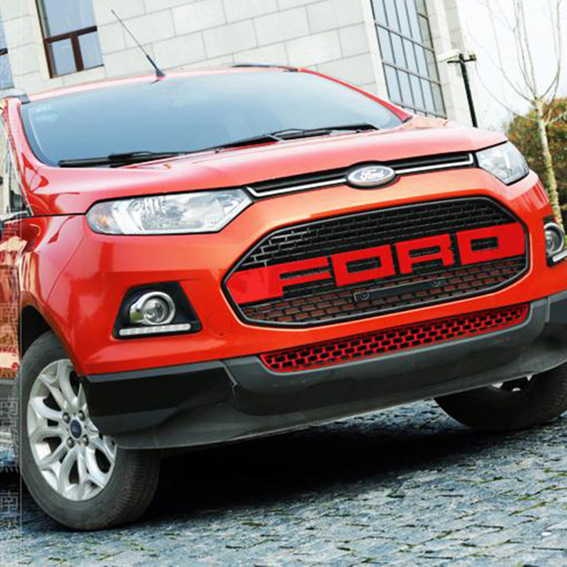 Pcs Set Red For Ford Ecosport Modified F Style Front Hood Center Grille Grill Car Styling