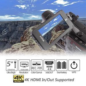 """Image 2 - Fotga DP500IIIS A50 5 """"FHD Video Auf Kamera Feld Monitor Touchscreen 1920x1080 700cd m2 HDMI 4K Eingang Ausgang für F970 A7 GH5"""