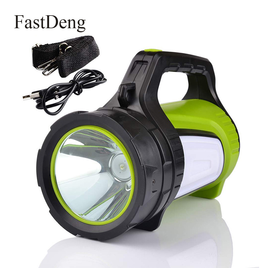 LED Flashlight Handed Portable Spotlight USB Rechargeable 20W Built-in 6000mAh Battery Torch Searchlight Multifunction Long ShotLED Flashlight Handed Portable Spotlight USB Rechargeable 20W Built-in 6000mAh Battery Torch Searchlight Multifunction Long Shot