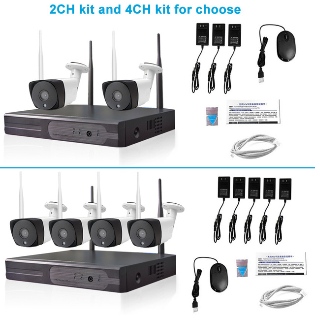 CCTV System Wireless 1080P HD Outdoor Waterproof 20m Night Vision Home Security P2P Wifi IP NVR Camera Video Surveillance Kit