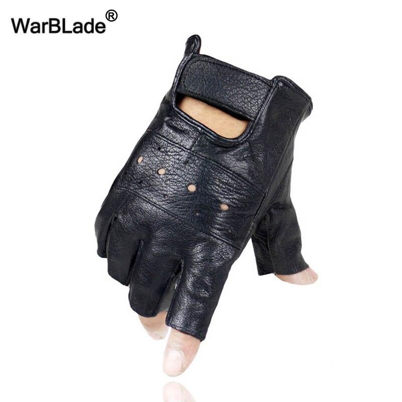 Warblade Gloves Fingerless Sport-Driving Gym Sheep Men Luvas Slip-Resistant