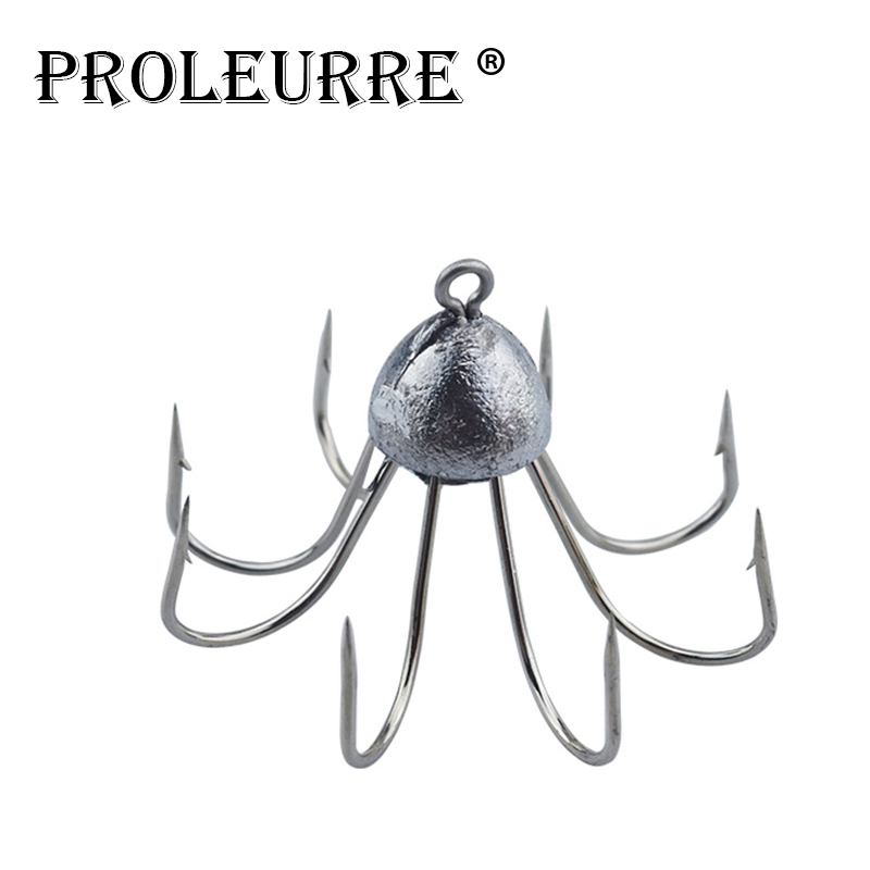 1pcs Fishing Hook Bait Barb Fishhook Lure Tackle Box Size Carbon Steel eight claw hook Fishing gear accessories of Octopus hook