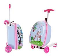 Skateboard Riding Suitcase Children Scooter Suitcase For Kids Travel Spinner Carry On Wheeled Luggage Bag Rolling Truck For Kids