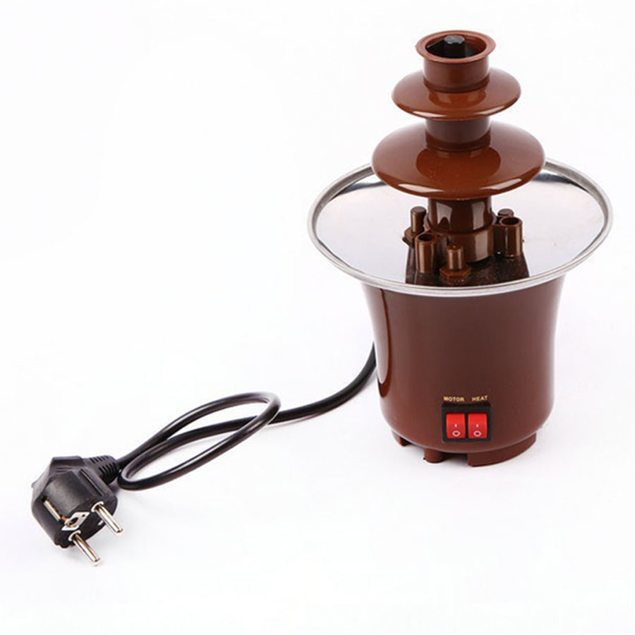 Home three layers of chocolate fountain machine diy mini waterfall hotpot magma machine automatic melting tower party activities image