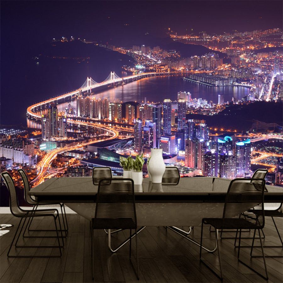 Photo Wallpaper Beauty City Night Scene 3D Wallpaper