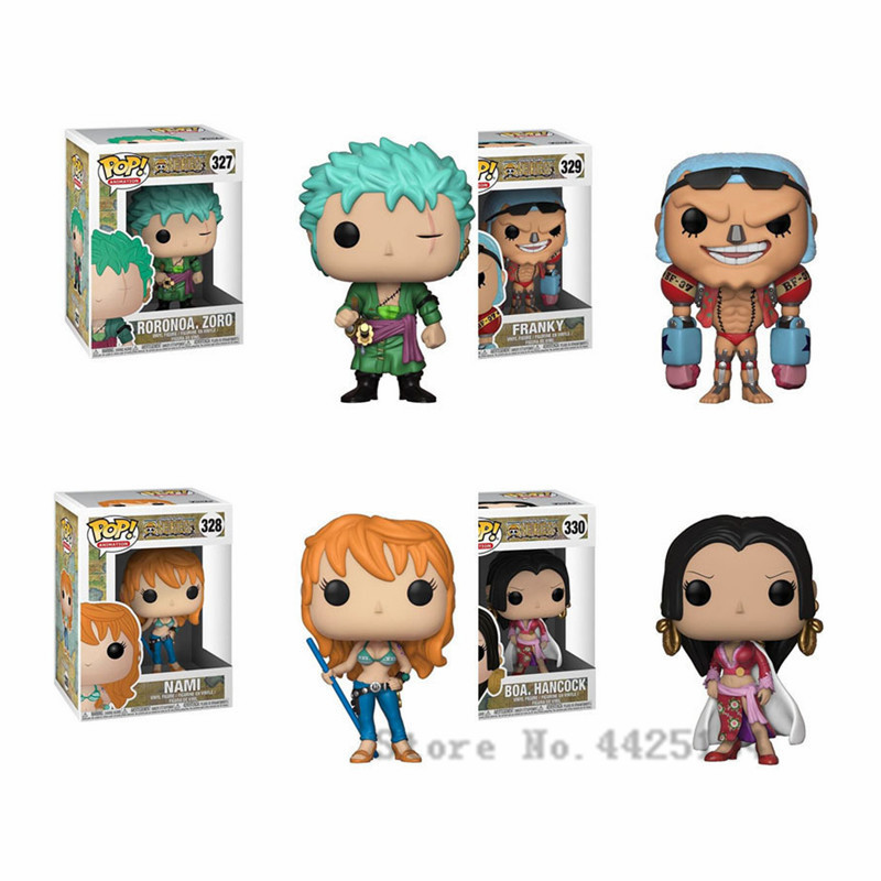 Funko pop ONE PIECE Roronoa Zoro/BOA.Hancock/Nami Kid Boy Birthday Gift Vinyl Doll Action Figure Collection Model Toy For Friend funko pop marvel loki 36 bobble head wacky wobbler pvc action figure collection toy doll 12cm fkg120