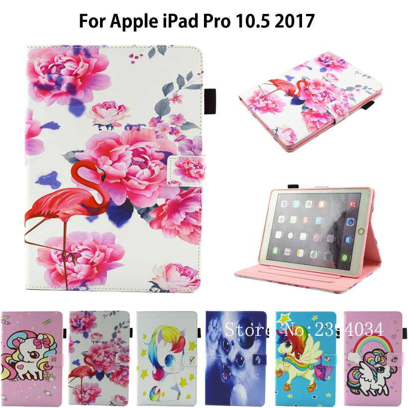 Case for Apple Pro 10.5 PU Leather Flip Smart Cartoon style Stand cover For iPad Pro 10.5 2017 A1701 A1709  Cartoon Shell for ipad pro 10 5 case 2017 pu leather silicone soft back slim smart cover for apple ipad 2017 pro 10 5 inch case a1701 a1709