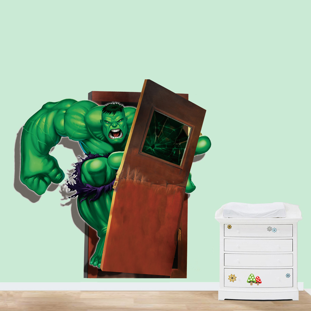 Diy 3D Wall Stickers Avengers Hulk Childrenu0027s Room Wall Stickers Waterproof  Removable PVC Mural Europe Home Decor In Wall Stickers From Home U0026 Garden  On ...