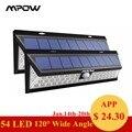 Mpow CD020 54 LED luces a prueba de agua luces solares con 120 grados de ángulo ancho de movimiento de la lámpara Solar con 3 modos de al aire libre jardín, garaje