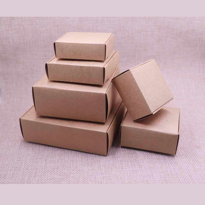 20pcs   New DIY Kraft Paper Box Gift Box For Wedding Favors Birthday Party Candy Cookies Christmas party gift ideas Box