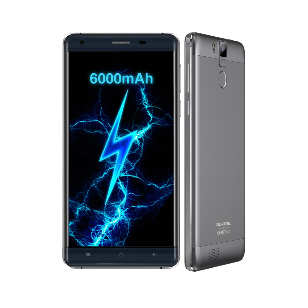 Oukitel K6000 Pro 4G LTE 5.5 inch FHD MTK6753 Octa Core Android 6.0 Mobile Phone 16MP 3GB RAM 32GB Fingerprint Smartphone