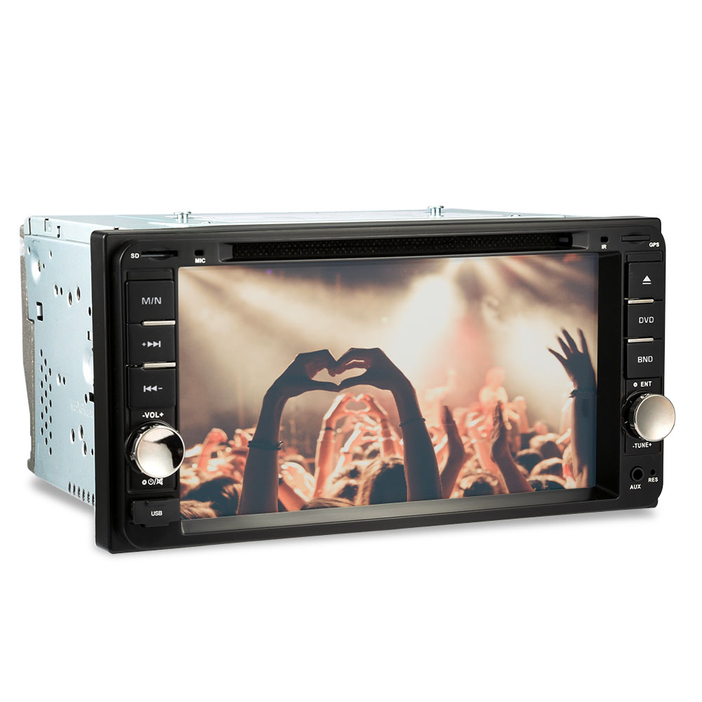 AUTOLOVER 7 inch 2 Din Car DVD Player Stereo Radio Touch Screen Bluetooth FM Radio Multimedia With Remote Control For Toyota fm stereo radio multimedia speaker classical handmade bamboo radio station mucis player portable radio fm remote control y4113o