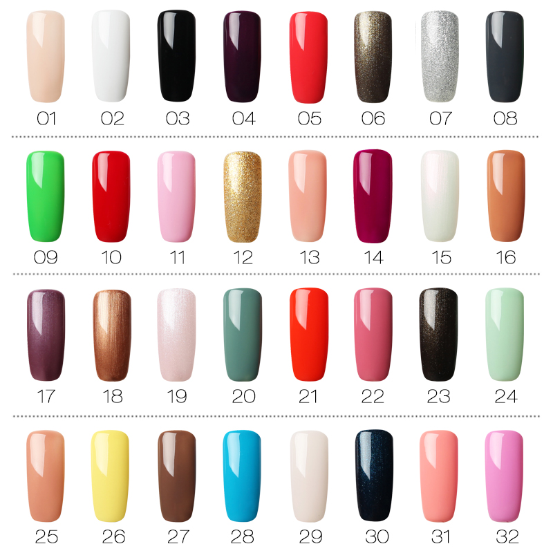 Image 2 - (12PCS/SET)ROSALIND Gel Nail Polish Set For Nail Extension Kit Nail Art Gel Lacquer UV LED Lamp Design acrylic nail Manicure Set-in Sets & Kits from Beauty & Health
