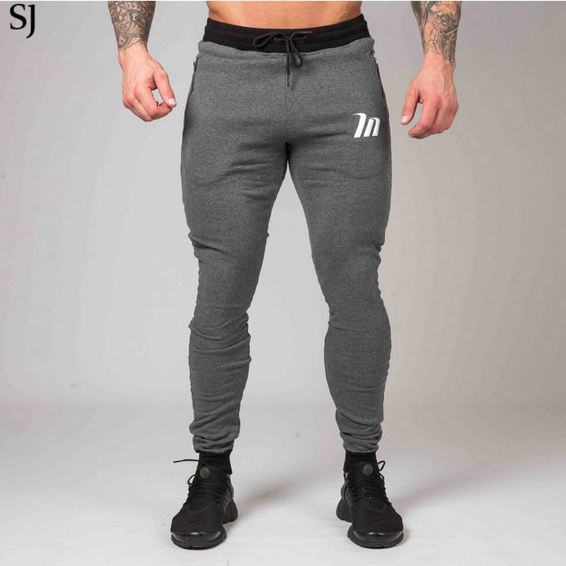 SJ 2017 New High Quality Jogger Pants Men Fitness Bodybuilding Gyms Pants For Runners Clothing Autumn Sweat Trousers Britches