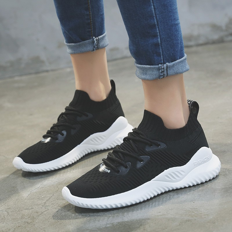 Fashion Womens Chunky Sneakers Mesh Breathable Design Platform Shoes Lace Up Female Tenis Feminino
