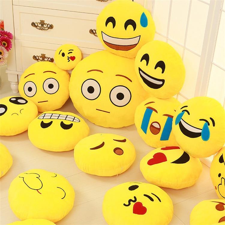 Heißer verkauf Weiche Runde Smiley kissen Plüsch Emotion Spielzeug ...