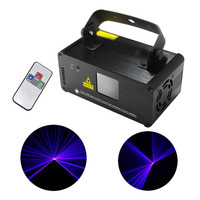 AUCD Portátil Mini 8 CH DMX 150 mW Blue Beam Laser Scanner efecto de Etapa de Iluminación DJ Party Club Mostrar LED Proyector Luz DM-B150
