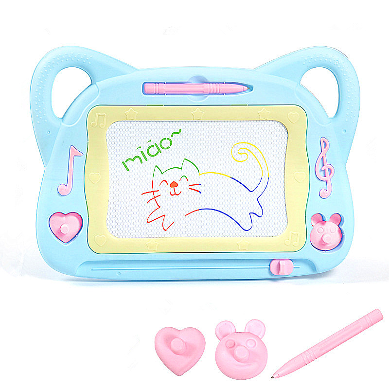Kawaii Cat Painting Graffiti Board For Kids Baby Repeated Creative Painting Write Tablet With Two Graphic Seal A Magical Pen