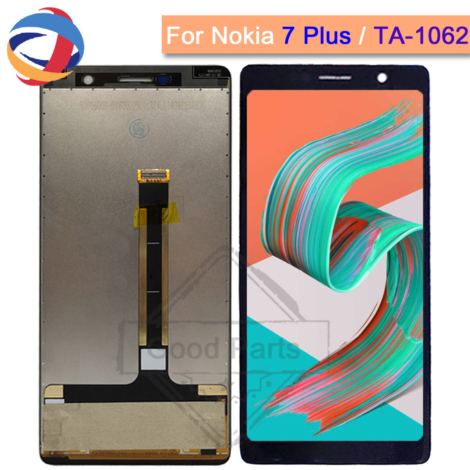 6.0New Display for Nokia 7 Plus LCD 7Plus Display Touch Screen TA-1062 LCD Digitizer Replacment 100% Test for Nokia E7 Plus LCD6.0New Display for Nokia 7 Plus LCD 7Plus Display Touch Screen TA-1062 LCD Digitizer Replacment 100% Test for Nokia E7 Plus LCD