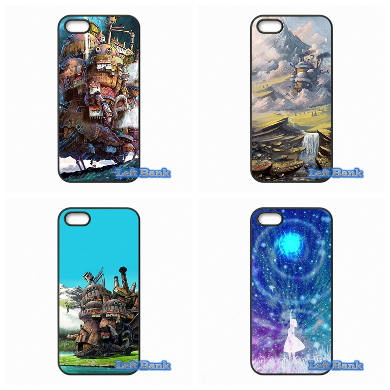 For Apple iPhone 4 4S 5 5S 5C SE 6 6S 7 Plus 4.7 5.5 iPod Touch 4 5 6 Studio Ghibli Howls Moving Castle Case Cover