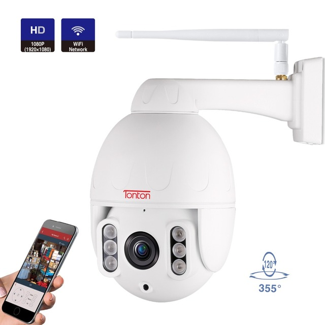 Tonton 1080P WIFI Camera Outdoor Wireless PTZ Security IP Camera Speed Dome CCTV Security Camera Pan Tilt 5X Zoom Two Way Audio