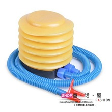Eco friendly plastic inflatable foot pump ball pump double inflatable mouth child swimming pool neck circle