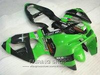 Зеленый Обтекатели на кузов комплекты для Kawasaki ZX6R 636 1998 1999 98 99 ZX 6R обтекатель комплект + 7 подарки S02