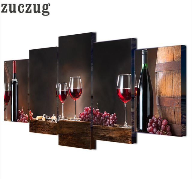 Modern Wall Painting Grape Wine Wine Glass Poster Home Decor Still