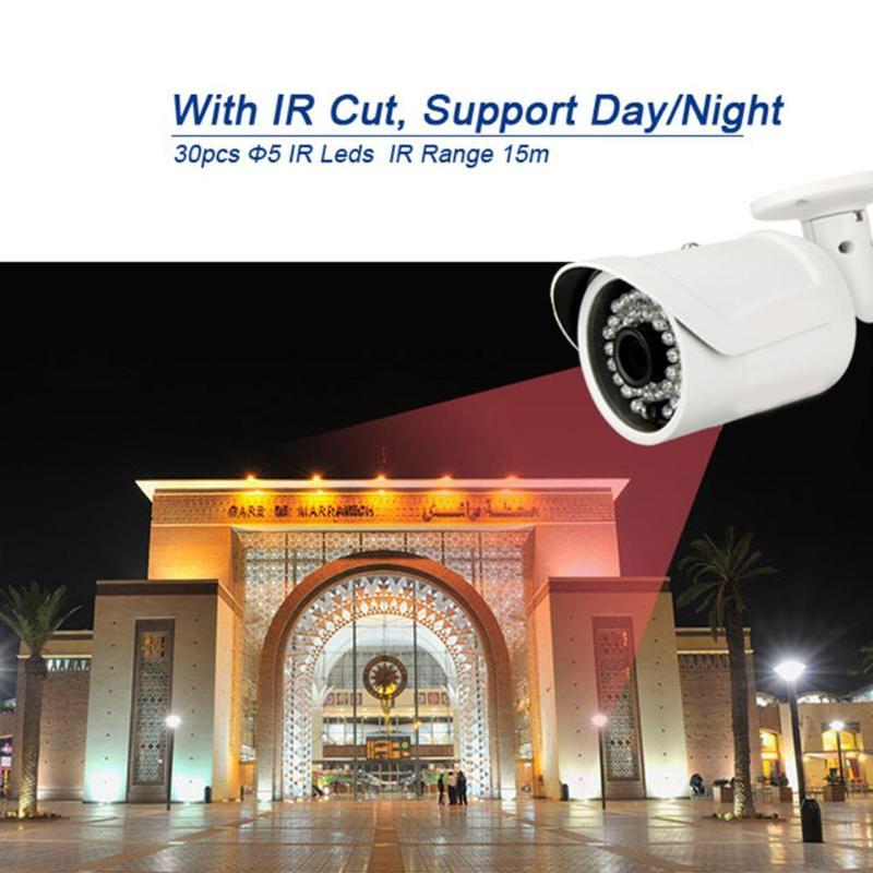 Mini caméra de surveillance réseau étanche infrarouge Vision nocturne 720P 1MP HD