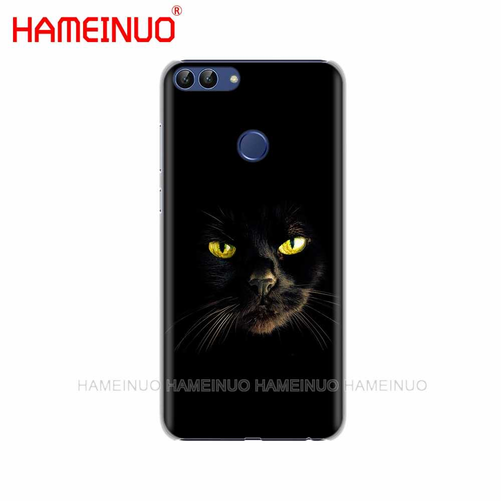 HAMEINUO czarny kot wpatrujące się oko na obudowa telefonu komórkowego etui do huawei Honor Y5 7C Y625 Y635 Y6 Y7 Y9 2017 2018 Prime PRO