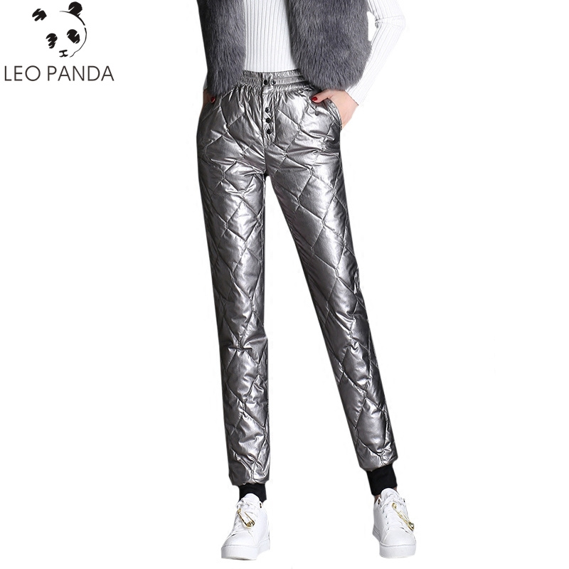 Silver Canard Faisceau face Occasionnels Hiver De Duvet Blanc Coton Mince Femmes Jambe Double Taille Pantalon Haute Space 90 Épais S4Uqwx8w