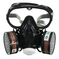 Safurance Respirator Gas Mask Safety Chemical Anti Dust Filter Military Eye Goggle Set Workplace Safety Protection