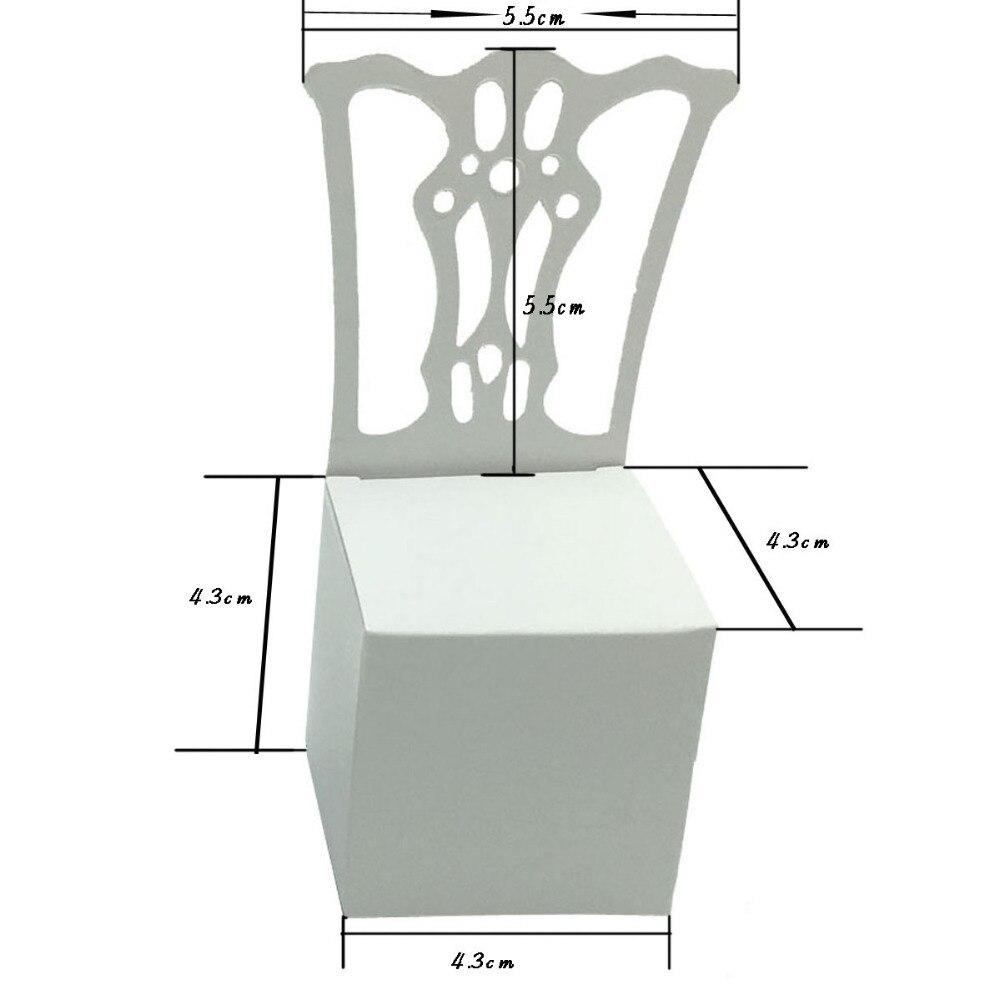 OurDecor 100 հատ / շատ աթոռ Ձևի ձևաթուղթ - Տոնական պարագաներ - Լուսանկար 6