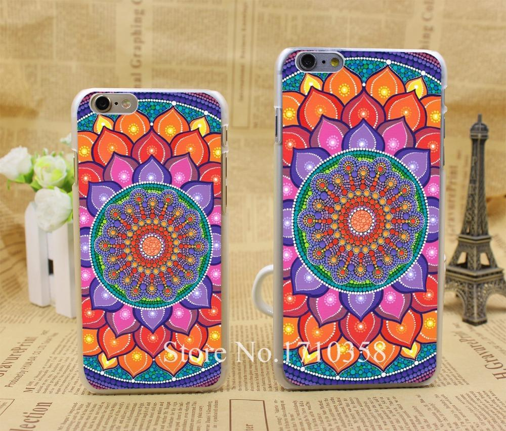 lotus rainbow mandala Style Fashion Hard Transparent Clear Back Style Case for iPhone 7 7 Plus 6 6s 6 plus Cover