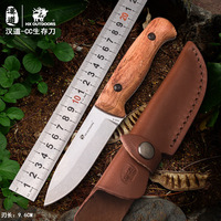 HX OUTDOORS TD 08 Camping Survival Fixed Knife AUS 8 Blade Rosewood Handle bushcraft knife multi tool knife with KYDEX Sheath