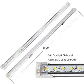 Küchenbar Lichter   Ultra Dünne 50 CM Led Bar Licht DC 24 V 42 Leds 2835 Led Starren Streifen Led Rohr + Touch Sensor Schalter Für Küche Unter Kabinett Licht