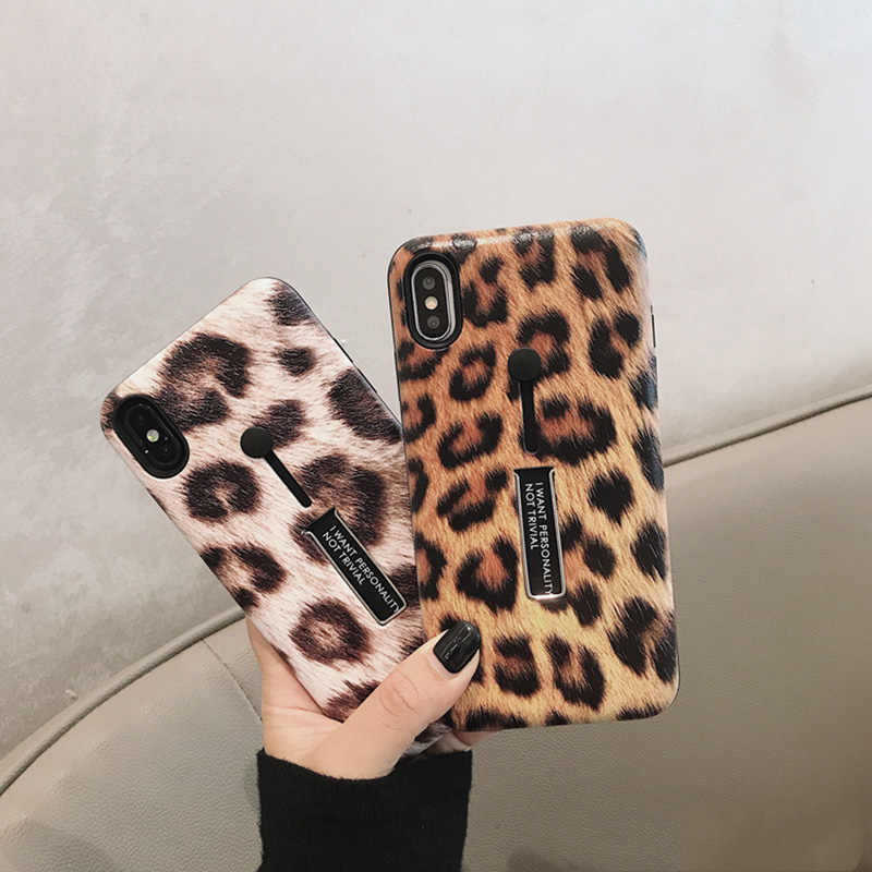 אופנה הדפס מנומר טלפון מקרה עבור iphone XS מקסימום מקרה עבור iphone XR X 6S 6 7 8 בתוספת יוקרה כיסוי קשיח מקרי קאפה