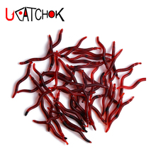 Soft Fishing Lure Earthworm Fishing Lures Blood Worms Fishing Tackle Soft Baits pesca peche soft lure 12pcs bag fisher hunter brand soft baits fishing lure 68mm 2 3g slow sinking lures soft fishing lures soft bait free shipping