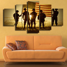 5 Panels HD Printed MILITARY SOLDIERS Wall Art Painting Canvas Print Room decor print poster Picture Canvas P0416
