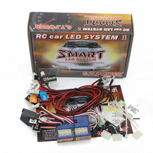 GT power RC Car lighting 12 LED Intelligent controllable linkage model lights 2 PPM FM FS