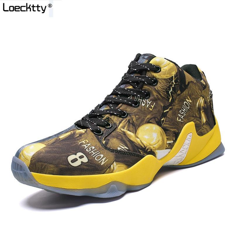 Sport & Unterhaltung Turnschuhe 2019 Neue Männer Basketball Schuhe Zapatillas Hombre Deportiva Gelb Atmungsaktive Männer Stiefeletten Basketball Turnschuhe Sportschuhe Schrumpffrei