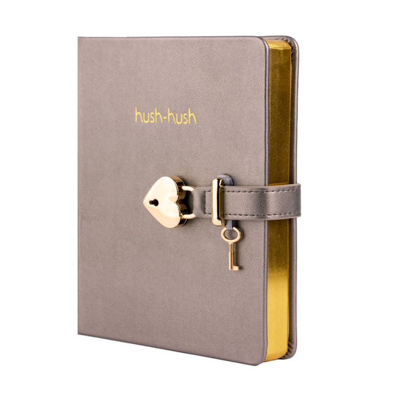 HUSH-HUSH MY SECRET DIARY GOLD Edition, Journal Diary Notebook With Lock - *BEST SELLER