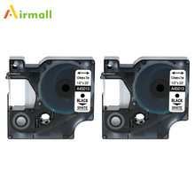 Airmall 2 Pack Labeling Tape 45013 S0720530 Compatible Dymo D1 Label manager 12mm Black on White for Dymo Label Printer fimax 10 pcs for dymo d1 label printer ribbon dymo 45013 12mm dymo d1 label tape black on white s0720530 for dymo d1 label maker