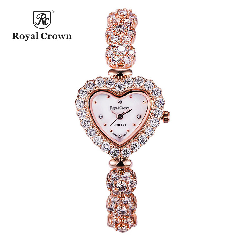 Heart Shell Lady Women s Watch Japan Quartz Hours Fashion Dress Bracelet Luxury Rhinestones Bling CZ