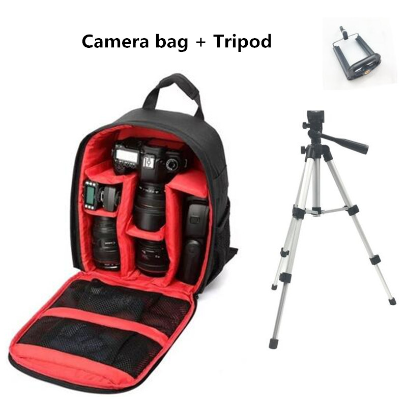 Cámara de múltiples funciones mochila Fotografia impermeable doble hombro vídeo caso Nikon Canon dslr bolsa Cámara