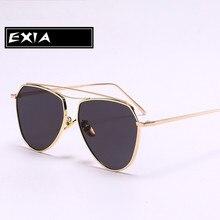 Women Sun Glasses UVA Anti-Ultra Violet Fashion Eyeglasses Flat Lenses EXIA OPTICAL KD-0737 Series