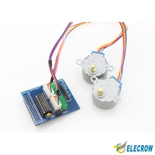 Elecrow Step Your Pi Assembly Stepper Motor Stepper Connector for Raspberry Pi  DIY Kit Open Source Free Shipping