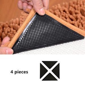 Image 1 - Rug Grijpers voor Tapijt Grijper voor Karpetten Dubbelzijdig Anti Curling Antislip Wasbaar Herbruikbare Pads voor Tegel vloeren Tapijt