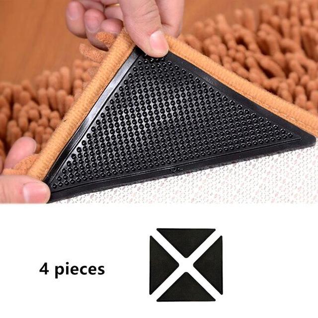 Rug Grijpers voor Tapijt Grijper voor Karpetten Dubbelzijdig Anti Curling Antislip Wasbaar Herbruikbare Pads voor Tegel vloeren Tapijt
